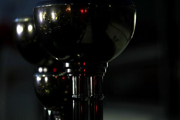 Suzuka Circuit, Suzuka, Japan.  Sunday 13th October 2013.  The winners and constructors trophies. World Copyright: Andy Hone/LAT Photographic  ref: Digital Image HONY5887
