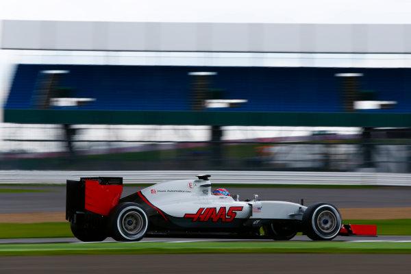 Silverstone, Northamptonshire, UK. Wednesday 13 July 2016. Santino Ferrucci, test and development driver, Haas VF-16.  World Copyright: Zak Mauger/LAT Photographic ref: Digital Image _L0U8450