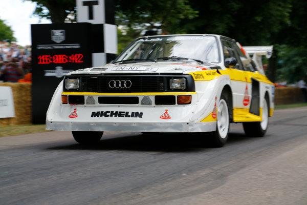 2014 Goodwood Festival of Speed  Goodwood Estate, West Sussex, England. 26th - 29th June 2014.  Sunday 29 June 2014. Audi Quattro  World Copyright: Adam Warner/LAT Photographic. ref: Digital Image _L5R7533