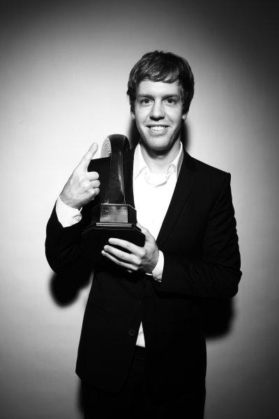 Grosvenor House Hotel, Park Lane, London 5th December 2010 Sebastian Vettel, winner of the 2010 International Racing Driver Award.World Copyright:Malcolm Griffiths/LAT Photographic ref: Digtal Image IMG_3873