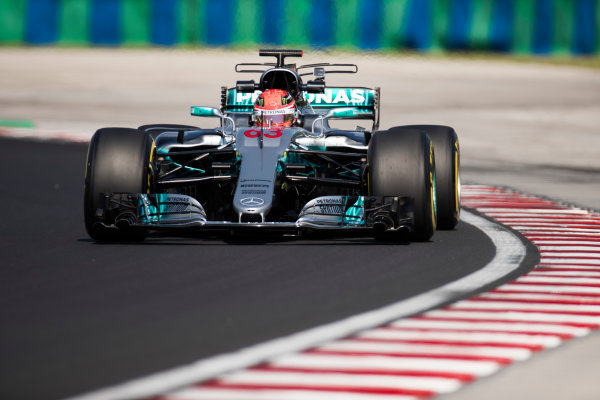 Hungaroring, Budapest, Hungary.  Tuesday 01 August 2017. George Russell, Mercedes F1 W08 EQ Power+. World Copyright: Joe Portlock/LAT Images  ref: Digital Image _R3I0293.CR2