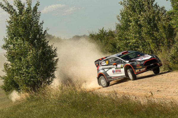 Robert Kubica (POL) / Maciek Szczepaniak (POL), Ford Fiesta RS WRC at FIA World Rally Championship, Rd7, Lotos 71st Rally Poland, Preparations & Shakedown, Mikolajki, Poland, Thursday 2 July 2015.