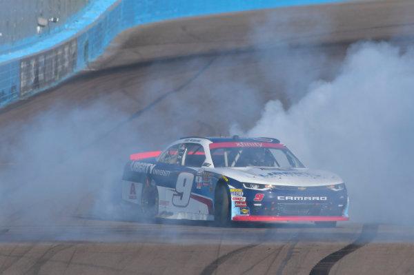 NASCAR XFINITY Series Ticket Galaxy 200 Phoenix Raceway, Avondale, AZ USA Saturday 11 November 2017 William Byron, Liberty University Chevrolet Camaro celebrates his win World Copyright: Nigel Kinrade LAT Images