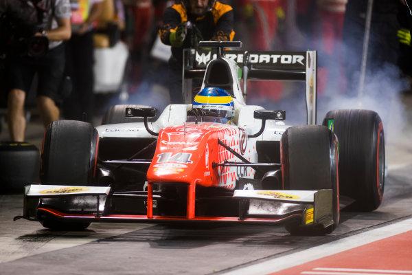2017 FIA Formula 2 Round 11. Yas Marina Circuit, Abu Dhabi, United Arab Emirates. Saturday 25 November 2017. Sergio Sette Camara (BRA, MP Motorsport).  Photo: Sam Bloxham/FIA Formula 2. ref: Digital Image _W6I3440