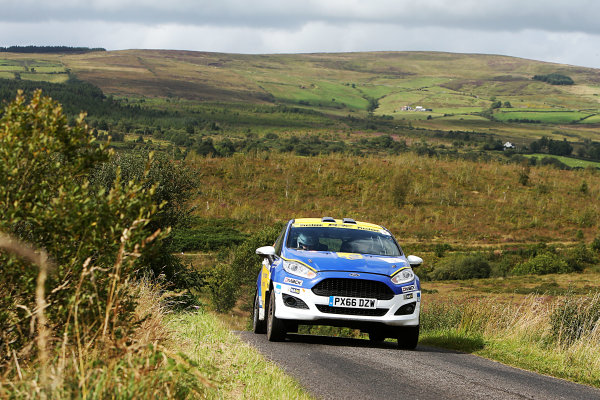 2017 British Rally Championship, Ulster Rally, Londonderry. 18th - 19th August 2017. James McDiarmid / Max Haines Messenger Ford Fiesta  World Copyright: JEP/LAT Images.