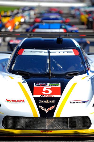 22-25 January, 2015, Daytona Beach, Florida USA The #5 Corvette at the front of the 53rd Rolex 24 at Daytona full field. ?2015, F. Peirce Williams LAT Photo USA