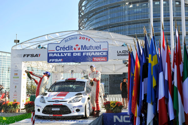 Round 11-Rallye de France. Ott Tanak, Ford S2000, Podium.Worldwide Copyright: McKlein/LAT
