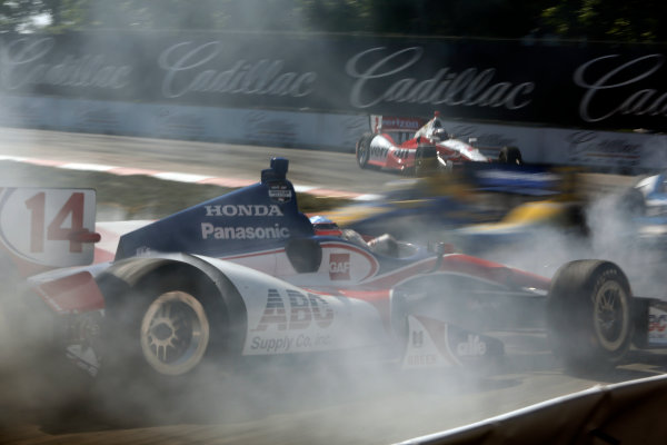 1 June, 2014, Detroit, Michigan, USA Takuma Sato, spin. ?2014, Brian Cleary LAT Photo USA