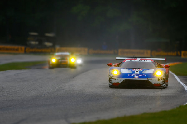 IMSA WeatherTech SportsCar Championship Continental Tire Road Race Showcase Road America, Elkhart Lake, WI USA Friday 4 August 2017 66, Ford, Ford GT, GTLM, Joey Hand, Dirk Muller World Copyright: Jake Galstad LAT Images