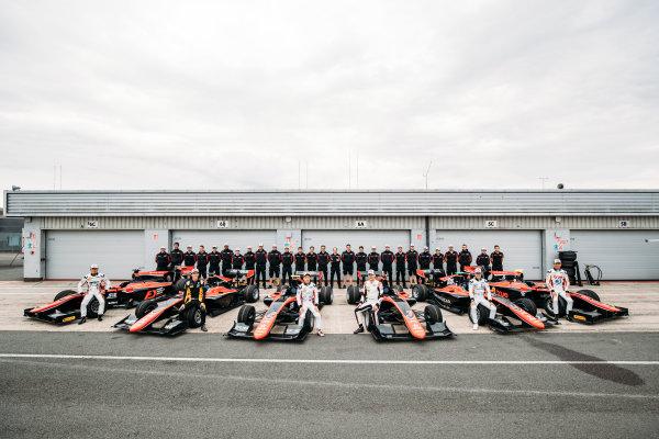 2017 FIA Formula 2 Round 6. Silverstone, Northamptonshire, UK. Thursday 13 July 2017. Nobuharu Matsushita (JPN, ART Grand Prix). Alexander Albon (THA, ART Grand Prix). Jack Aitken (GBR, ART Grand Prix). Nirei Fukuzumi (JPN, ART Grand Prix). George Russell (GBR, ART Grand Prix). Anthoine Hubert (FRA, ART Grand Prix). Photo: Malcolm Griffiths/FIA Formula 2. ref: Digital Image MALC0786