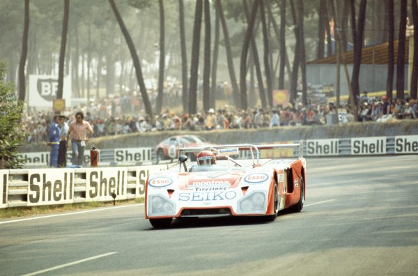 """1974 Le Mans 24 hours.Le Mans, France. 15-16 June 1974.Christine Beckers (""""Christine"""")/Yvette Fontaine/Marie Laurent (Chevron B23-Ford), 17th position.World Copyright: LAT PhotographicRef: 35mm transparency 74LM25"""