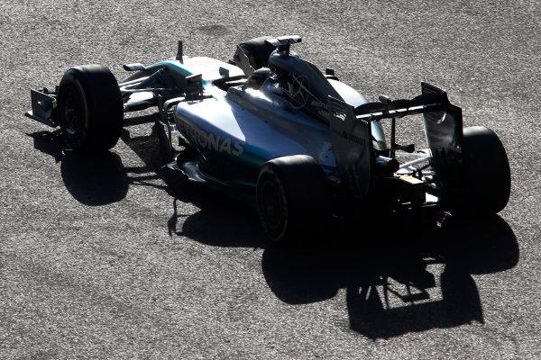 Sochi Autodrom, Sochi, Russia. Sunday 12 October 2014. Lewis Hamilton, Mercedes F1 W05 Hybrid, 1st Position, celebrates in the cockpit. World Copyright: Steven Tee/LAT Photographic. ref: Digital Image _X0W2981