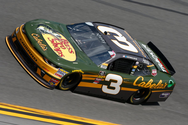 NASCAR Xfinity Series PowerShares QQQ 300 Daytona International Speedway, Daytona Beach, FL USA Friday 16 February 2018 Austin Dillon, Richard Childress Racing, Bass Pro Shops / Cabela's Chevrolet Camaro World Copyright: Matthew T. Thacker LAT Images