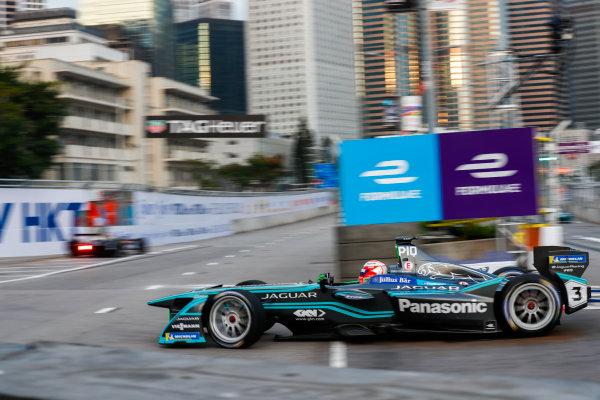 2017/2018 FIA Formula E Championship. Round 1 - Hong Kong, China. Saturday 02 December 2017. Nelson Piquet Jr. (BRA), Panasonic Jaguar Racing, Jaguar I-Type II. Photo: Sam Bloxham/LAT/Formula E ref: Digital Image _W6I5453