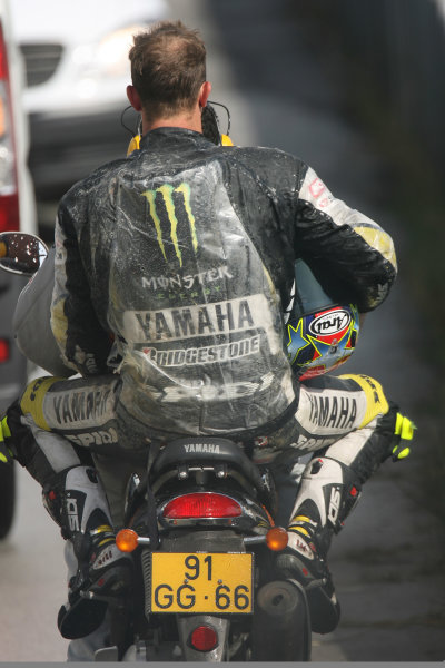 Portugal Estoril Oct 29-31Colin Edwards Monster Yamaha Tech 3 gets a lift back to the paddock after crashing out