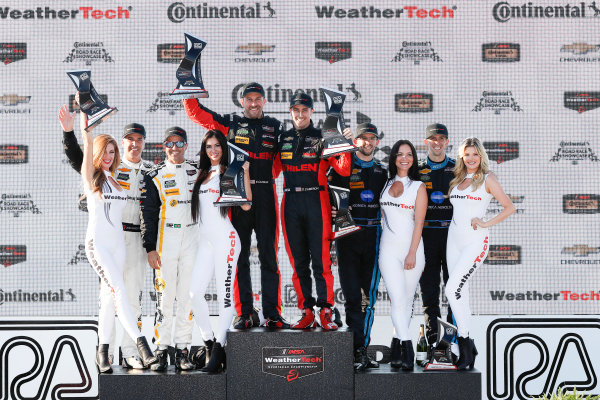 5-7 August, 2016, Elkhart Lake, Wisconsin USA , 5, Chevrolet, Corvette DP, P, Joao Barbosa, Christian Fittipaldi, 31, Chevrolet, Corvette DP, P, Eric Curran, Dane Cameron, 10, Chevrolet, Corvette DP, P, Ricky Taylor, Jordan Taylor, podium ?2016, Michael L. Levitt LAT Photo USA
