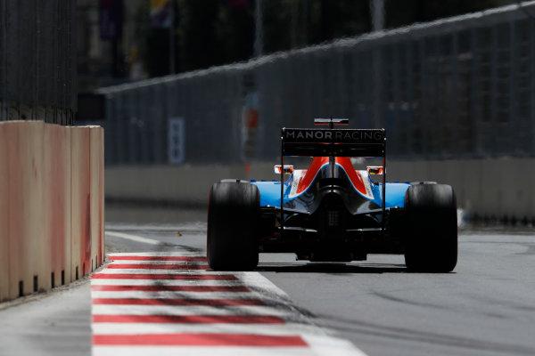 Baku City Circuit, Baku, Azerbaijan. Saturday 18 June 2016. Rio Haryanto, Manor MRT05 Mercedes. World Copyright: Glenn Dunbar/LAT Photographic ref: Digital Image _V2I9579