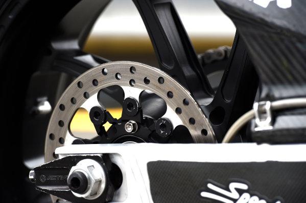 2017 Moto2 Championship - Round 16 Phillip Island, Australia. Thursday 19 October 2017 Xavi Vierge, Tech 3 Racing bike detail World Copyright: Gold and Goose / LAT Images ref: Digital Image 698238