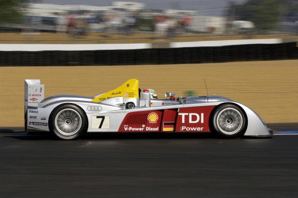 Tom Kristensen (DEN) Audi Sport Team Joest Audi R10. Le Mans 24 Hours Test Day, Le Mans, France, 4 June 2006. DIGITAL IMAGE