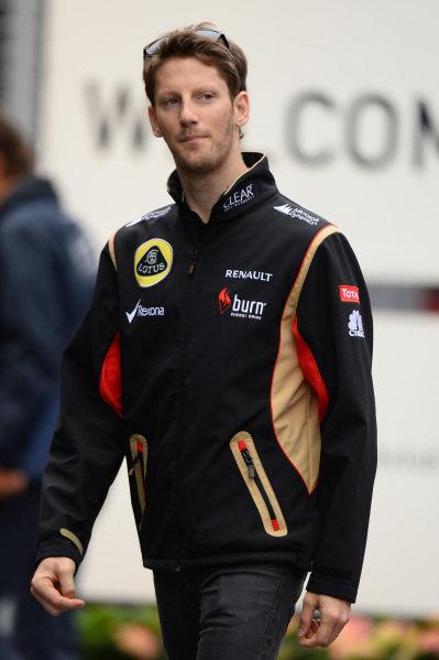 Romain Grosjean (FRA) Lotus F1. Formula One World Championship, Rd9, German Grand Prix, Practice, Nurburgring, Germany, Friday 5 July 2013.