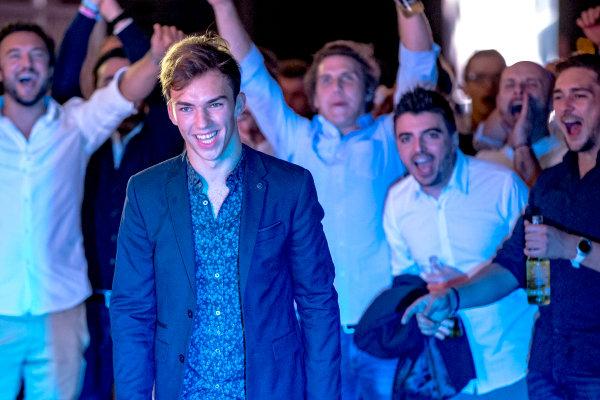 2016 GP2/3 Awards Evening. Yas Marina Circuit, Abu Dhabi, United Arab Emirates. Sunday 27 November 2016. Pierre Gasly (FRA, PREMA Racing)  Photo: Zak Mauger/GP2 Series Media Service/GP3 Series Media Service. ref: Digital Image _X0W9951