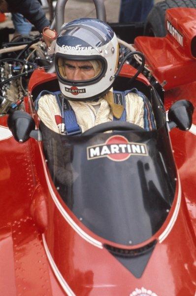 1976 German Grand Prix.Nurburgring, Germany. 30/7-1/8 1976.Carlos Reutemann (Brabham BT45 Alfa Romeo), retired, portrait.World Copyright - LAT Photographic