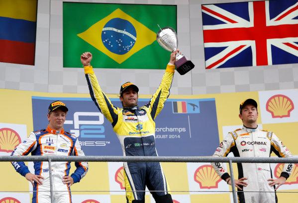 2014 GP2 Series Round 8. Spa-Francorchamps, Spa, Belgium. Sunday 24 August 2014. Felipe Nasr (BRA, Carlin)  Photo: Jed Leicester/GP2 Series Media Service. ref: Digital Image _ED_3255