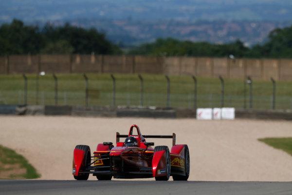 FIA Formula E Test Day, Donington Park, UK.  9th - 10th July 2014.  Jerome d'Ambrosio, China Racing. Photo: Sam Bloxham/FIA Formula E ref: Digital Image _SBL1249