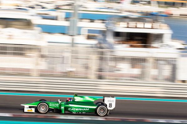 2014 GP2 Series Test 1  Yas Marina Circuit, Abu Dhabi, UAE.  Wednesday 12 March 2014. Alexander Rossi (USA) EQ8 Caterham Racing  Photo: Malcolm Griffiths/GP2 Series Media Service ref: Digital Image F80P5074