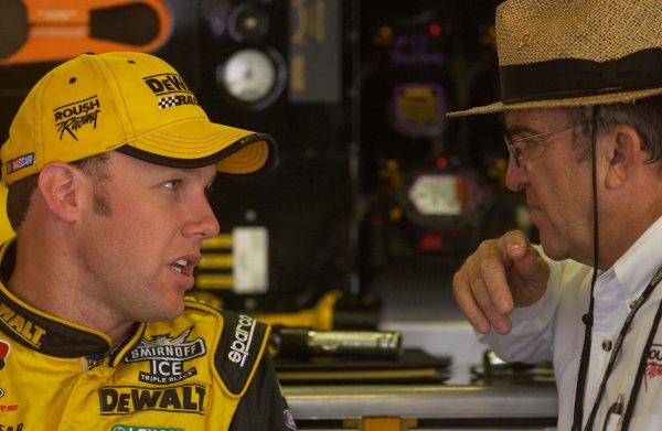 2003 NASCAR,Pocono Raceway,Pennsylvania 500,USA July27-Matt Kenseth and Jack Roush,-Robert LeSieur 2003LAT Photographic