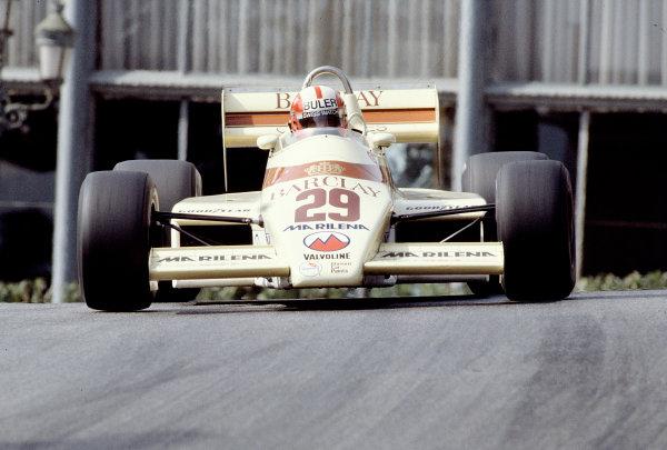 1983 Monaco Grand Prix.Monte Carlo, Monaco.12-15 May 1983.Marc Surer (Arrows A6 Ford).Ref-83 MON 46.World Copyright - LAT Photographic
