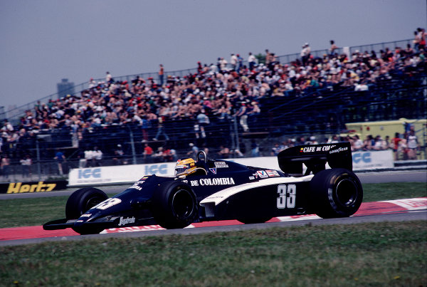 1983 Canadian Grand Prix.Montreal, Quebec, Canada.10-12 June 1983.Roberto Guerrero (Theodore N183 Ford).Ref-83 CAN 27.World Copyright - LAT Photographic