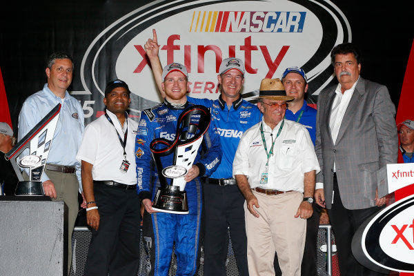 20-21 November, 2015, Homestead, Florida USA Chris Buescher celebrates his Xfinity championship ?2015, Russell LaBounty LAT Photo USA