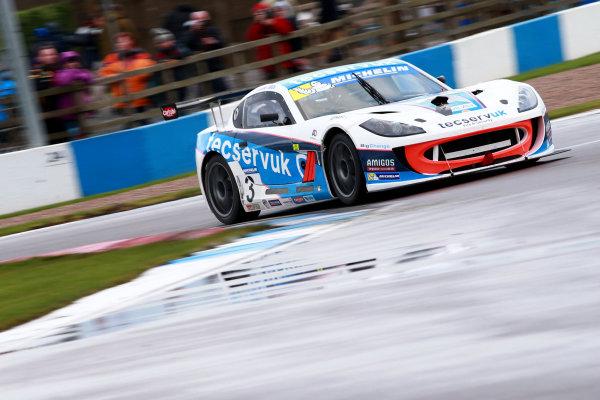2017 Ginetta GT4 Supercup, Donington Park, 15th-16th April 2017 Grahame Tilley Tecserv UK Ginetta G55 World copyright. JEP/LAT Images