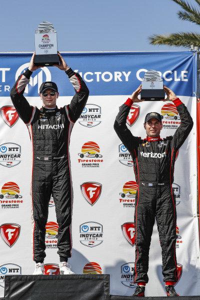 Josef Newgarden, Team Penske Chevrolet, Will Power, Team Penske Chevrolet, podium