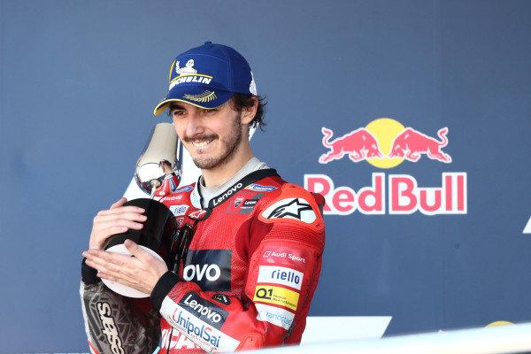 Podium: Francesco Bagnaia, Ducati Team.