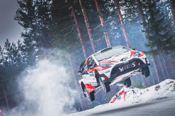 Juho Hanninen (FIN) / Kaj Lindstrom (FIN), Toyota Gazoo Racing Toyota Yaris WRC at World Rally Championship, Rd2, Rally Sweden, Day Two, Karlstad, Sweden, 11 February 2017.