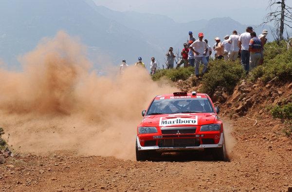 World Rally Championship, Acropolis Rally, June 13-16, 2002.Alister McRae on stage 3.Photo: Ralph Hardwick/LAT