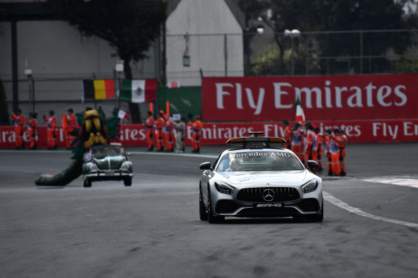 Safety car at Formula One World Championship, Rd18, Mexican Grand Prix, Race, Circuit Hermanos Rodriguez, Mexico City, Mexico, Sunday 29 October 2017.