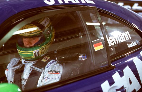 2001 DTM ChampionshipOscersleben, Germany. 19th - 20th May 2001.Marcel Tiemann, AMG Mercedes-Benz CLK, portrait.World Copyright: Peter Spinney/LAT Photographicref: 35mm Image A03