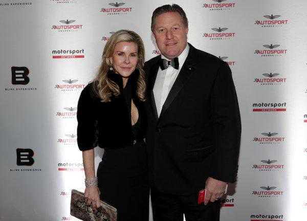 Tracy and Zak Brown, Executive Director, McLaren
