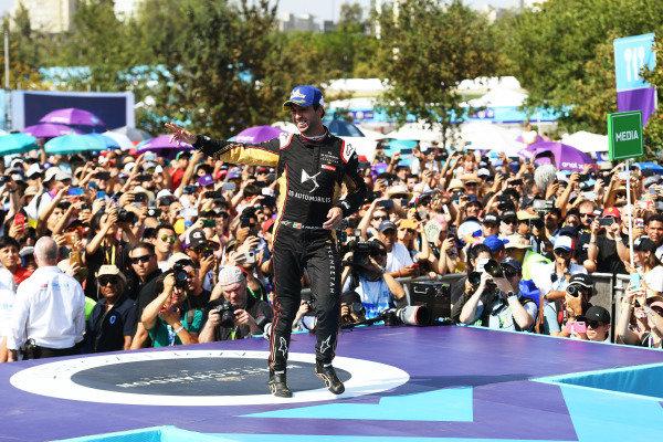 Antonio Felix da Costa (PRT), DS Techeetah, celebrates on the podium
