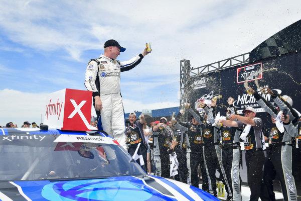#2: Tyler Reddick, Richard Childress Racing, Chevrolet Camaro KC Motorgroup celebrates after winning