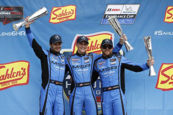 #86 Meyer Shank Racing w/ Curb-Agajanian Acura NSX GT3, GTD: Mario Farnbacher, Trent Hindman, Justin Marks, podium