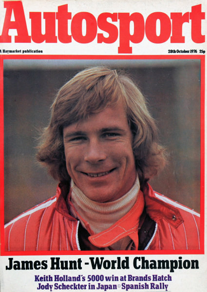 Cover of Autosport magazine, 28th October 1976