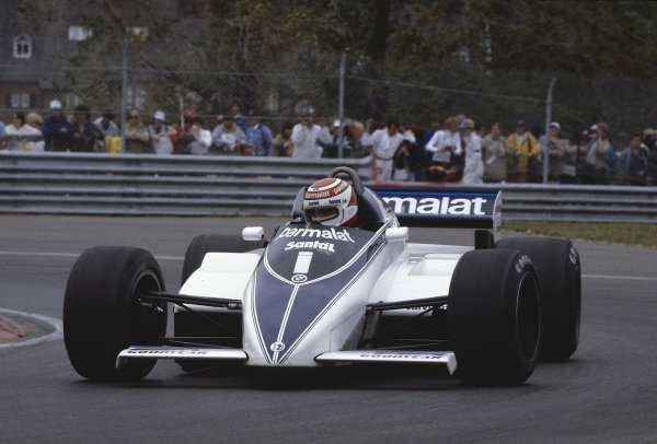 1982 Canadian Grand Prix.Montreal, Quebec, Canada.11-13 June 1982.Nelson Piquet (Brabham BT50 BMW) 1st position.Ref-82 CAN 26.World Copyright - LAT Photographic