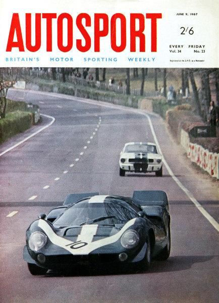 Cover of Autosport magazine, 9th June 1967
