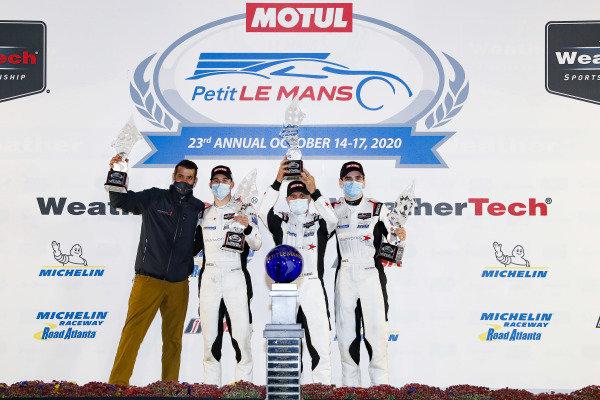 #8 Tower Motorsport by Starworks ORECA LMP2 07, LMP2: John Farano, Mikkel Jensen, Job van Uitert, podium