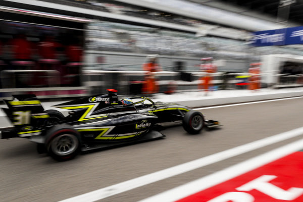 SOCHI AUTODROM, RUSSIAN FEDERATION - SEPTEMBER 27: Logan Sargeant (USA, Carlin Buzz Racing) during the Sochi at Sochi Autodrom on September 27, 2019 in Sochi Autodrom, Russian Federation. (Photo by Carl Bingham / LAT Images / FIA F3 Championship)