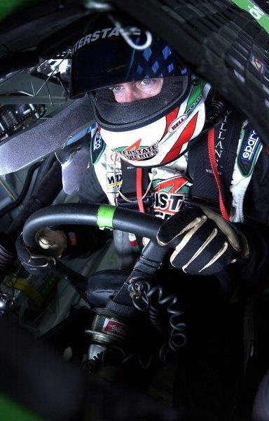 Twenty-sixth placed Bobby Labonte (USA) sits in the Interstate Batteries Chevrolet.NASCAR Winston Cup Series, Pocono 500, Pocono Raceway, USA, 9 June 2002.DIGITAL IMAGE